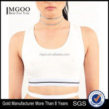 MGOO New Arrival Dri Fit Wholesale Women Sport Bra Spandex/ Polyester Plain White Yoga Wear bra