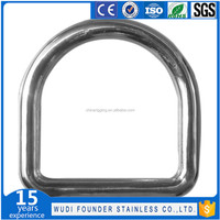 SS304 and SS316 Stainless Steel D Ring for Pet Neck Chain Hardware