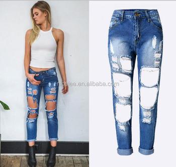 32928d57b8b NS0112 одежда бойфренды рваные джинсы женские брюки крутые джинсовые  винтажные прямые джинсы для девочек середины талии