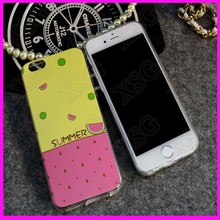 Fast deliver Fashion 3d cartoon fresh silicone soft watermelon fruit case for iphone 5