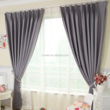 Factory Sale Various cheap price Solid Color hotel window Blackout ready made Curtain With Metallic / Plastic Eyelet