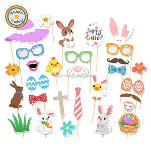 63face62dc85e YWPC022 RDT Amazon Hot-selling Easter Rabbit Colorful Eggs Funny Glasses  and Hats Photo Props