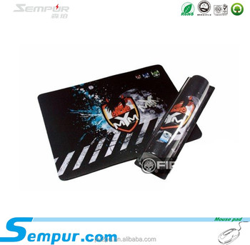 rubber gaming mouse pad with overlocked edge