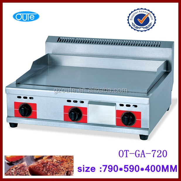 high quality 3 burner gas cooking hot plate and griddle price