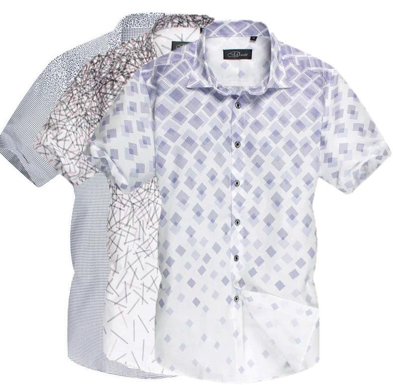 River Island Men Black Dotted Short Sleeve Shirt