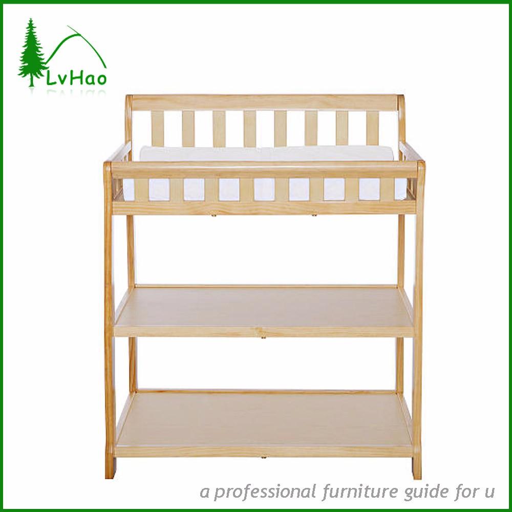 Natural New Zeland Pine Wood Safty Baby Change Table Designs