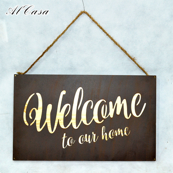 Promotional Design Home Outside Cast Iron Metal Wall Sign Decor