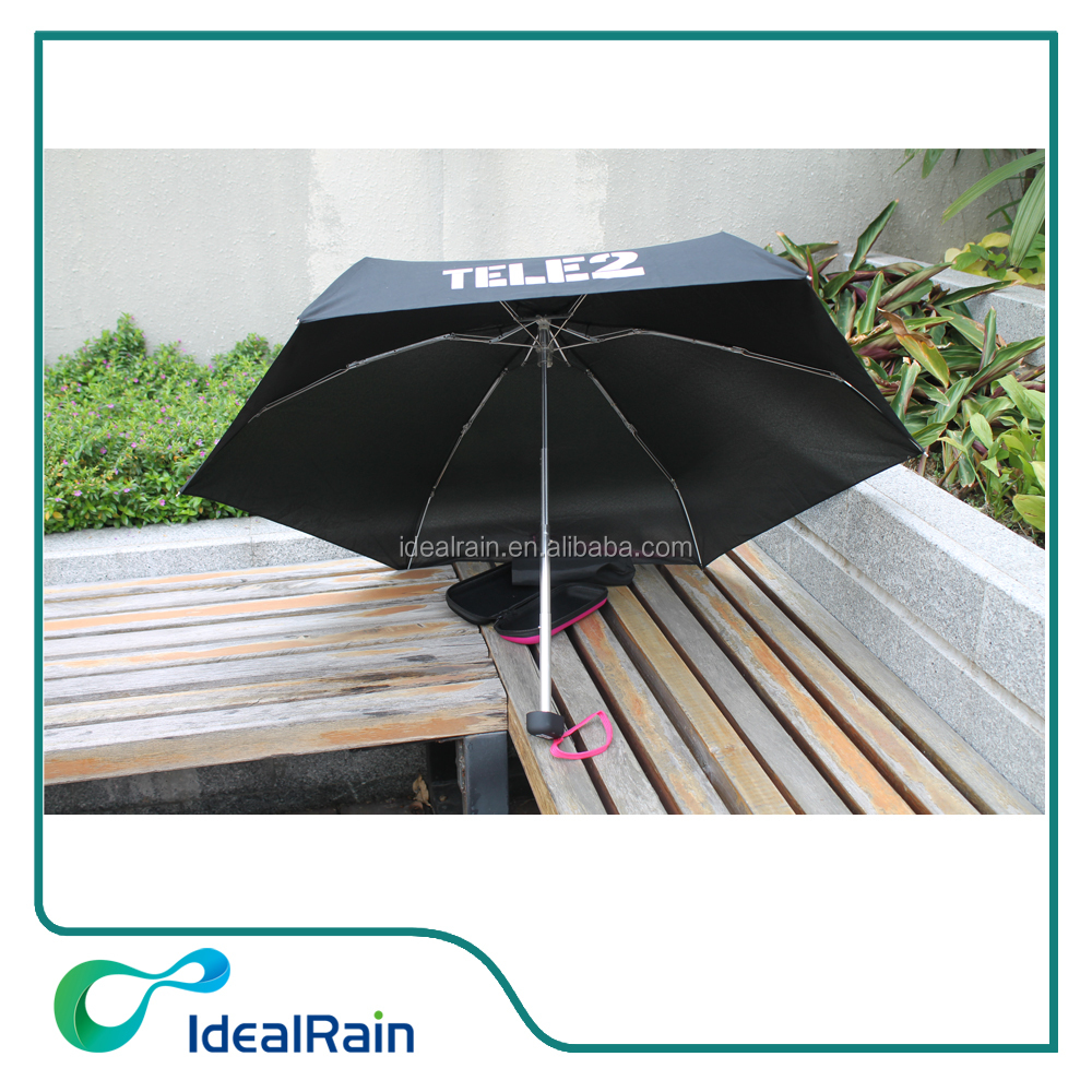 19 inches light mini 5 folding umbrella with EVA box