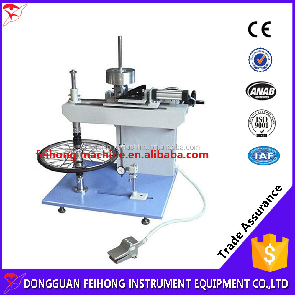 Car wheel shaft to the static load test bed/ Measures wheel clamping force test device