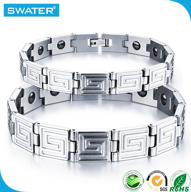 Wholesale Bio Kinetic Waterproof Metal Band Balance X Power Energy Bracelet With Germanium