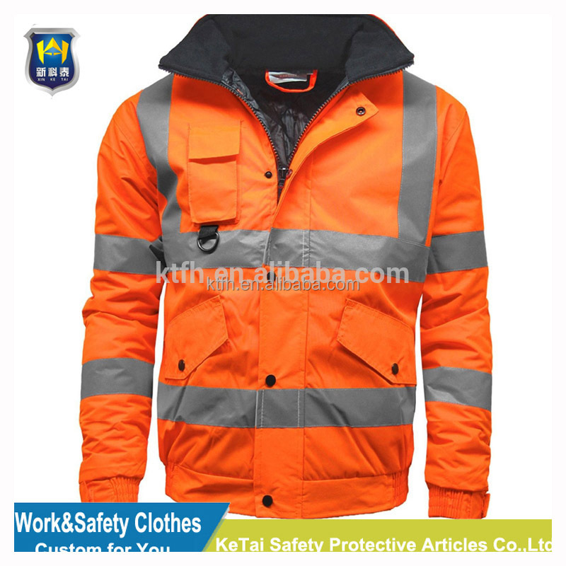 hi vis winter parka two tone Hi-vis parka high visibility parka