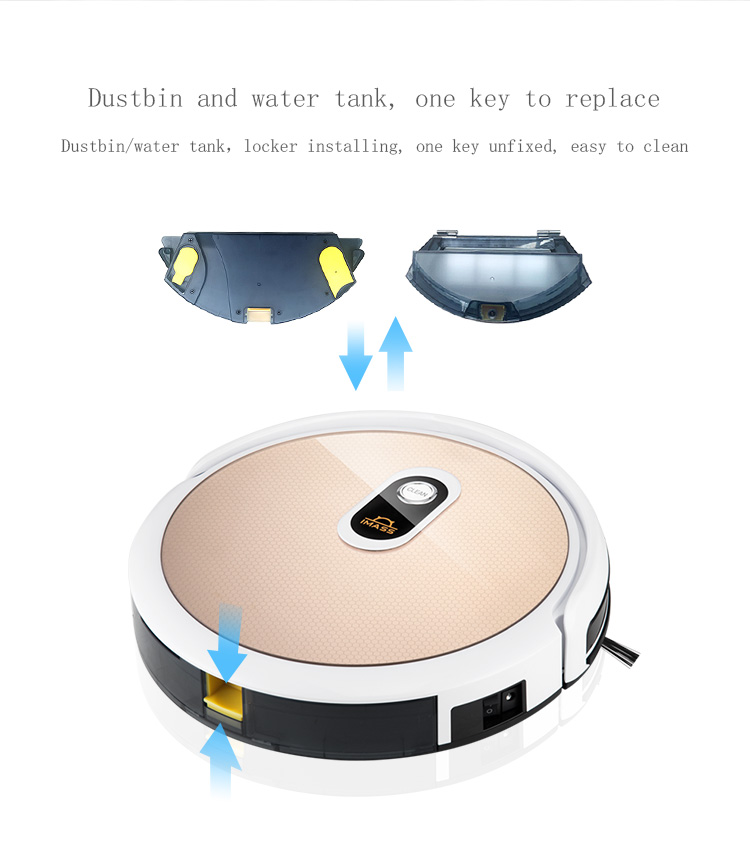 Smart robotic vacumm cleaner mop TUYA robot vaccum cleaner and mop carpet cleaner machine