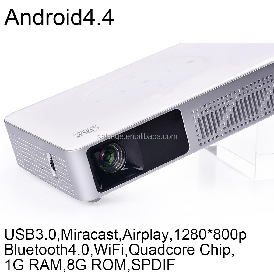 High lumens built in Android dlp projector 3D support 500 lumens portable mini projector