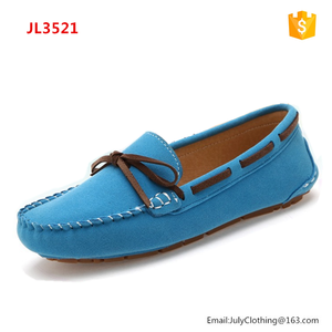2018 Spring Women Ladies suede relax Loafers driving Shoes with Big Size