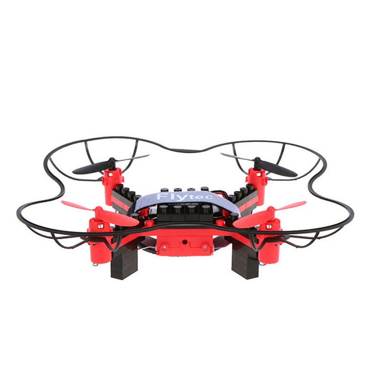 11. T11S_Red_WIFI_FPV_DIY_Building_Blocks_Drone_with_0.3MP_Camera_RC_Drone