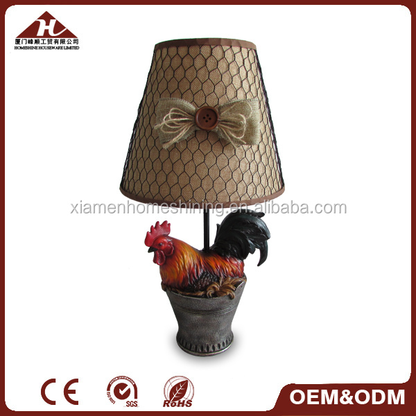 home resin rooster table lamp, Western style lamps