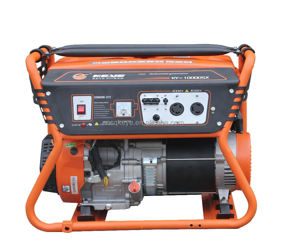 Hot new design 8.0kw home/industry use three phase gasline portable generator