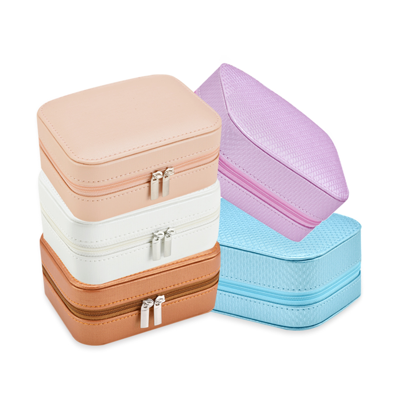 BMD PU17001 Small Portable Jewellery Box Jewelry gift box with zipper.jpg