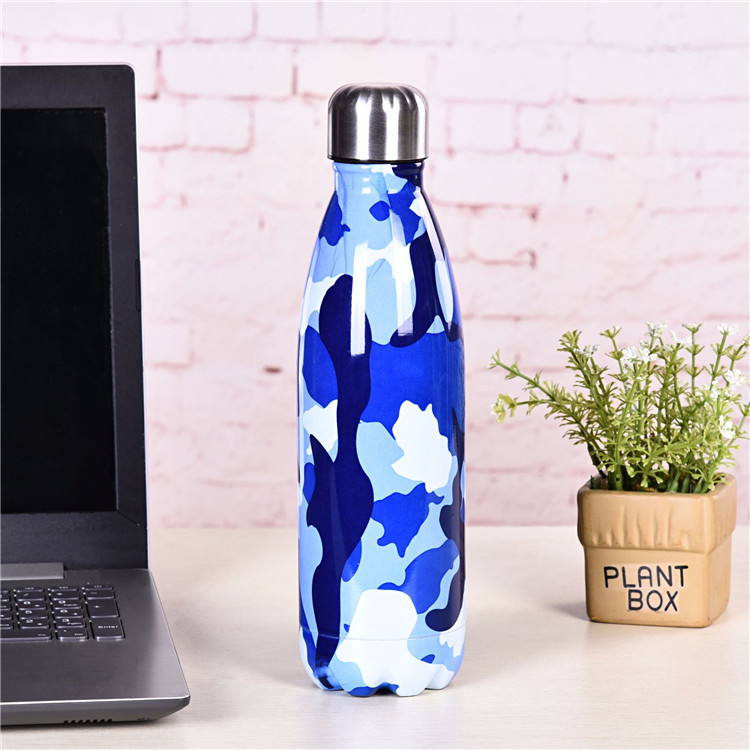 500ml Vacuum Insulated Double Wall 18/8 Stainless Steel Sport Water Bottle