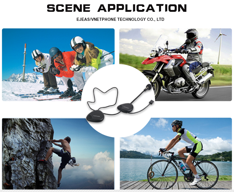 Full duplex bluetooth helmet headset for motorcycle