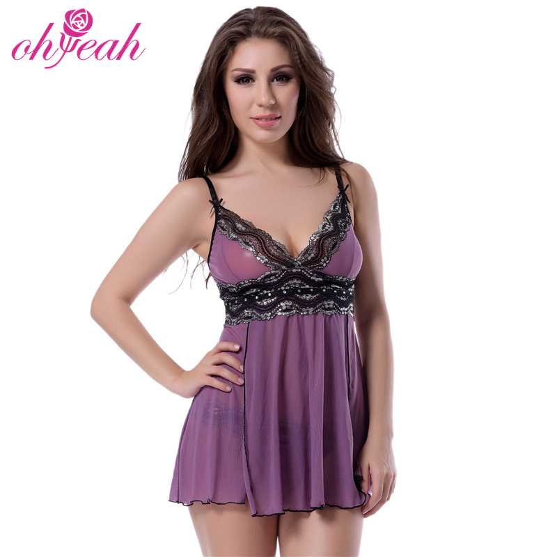 f2c067f3685 Factory Price Baby Doll Dress Night Wear Sexy See Through Sleepwear Lingerie  For Fat Women R79991