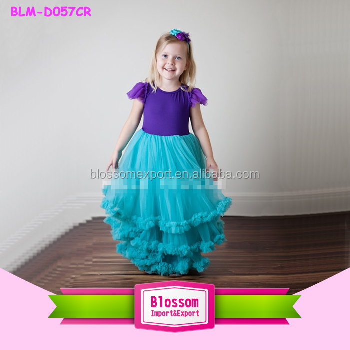 22e64314c Latest Baby Clothes Designs Cap Sleeve Ruffles Maxi Dresses Plus Size Girl Frock  Frill Dresses Kids