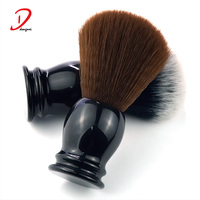 Black classical synthetic hair resin handle shaving brush