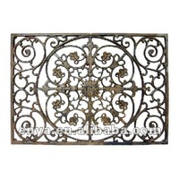 Rectangular Garden Doormat, Cast Iron Door Mat