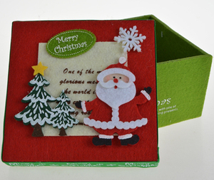 Felt Candy Boxes Santa Claus/snowman/reindeer Christmas holiday gift decoration