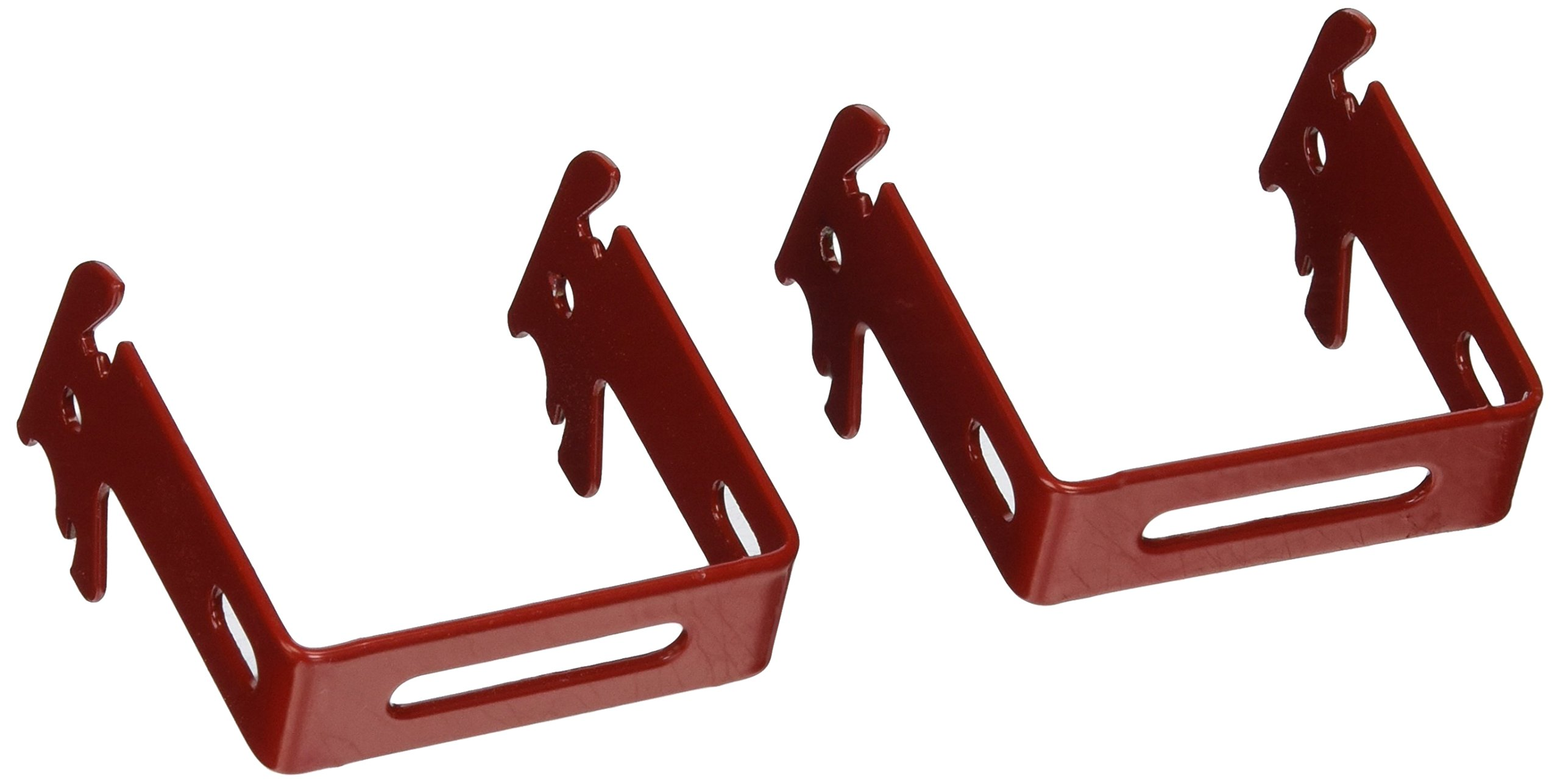 "Wall Control 10-CB-022 R C-Bracket Slotted Metal Pegboard Hook for Wall Control Pegboard Only, 2"" x 2"", Red"