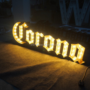 Marquee wood Customized Led Sign LED Pixel Bulb Storefront Sign