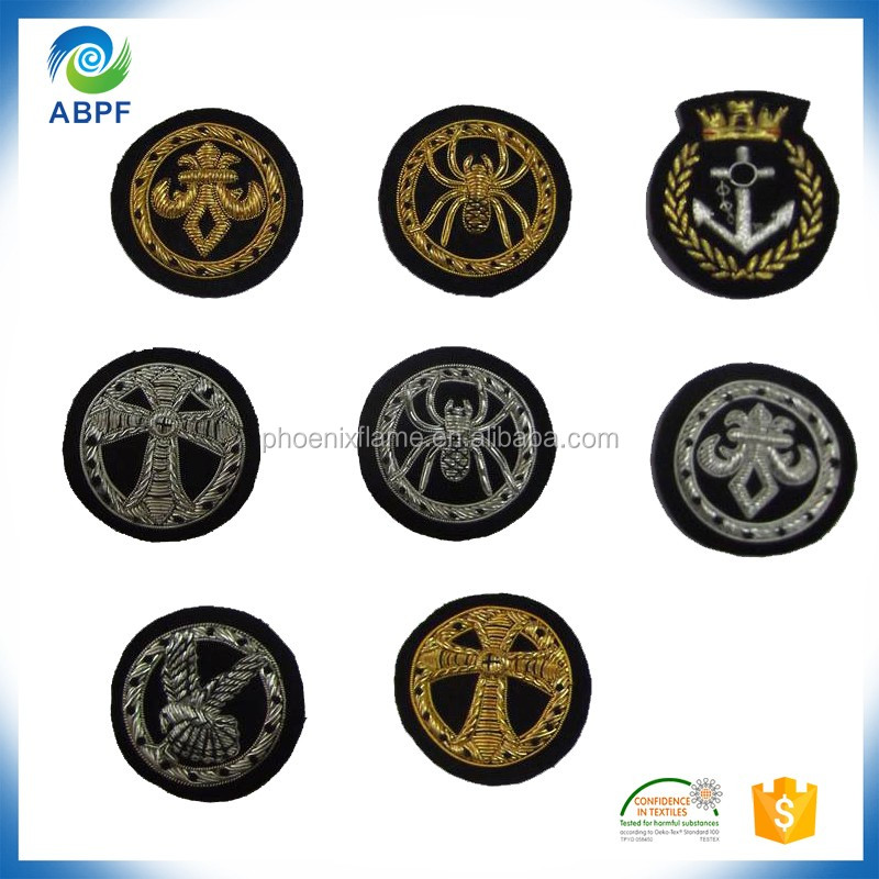 india Wire embroidery blank badge patches for blouses