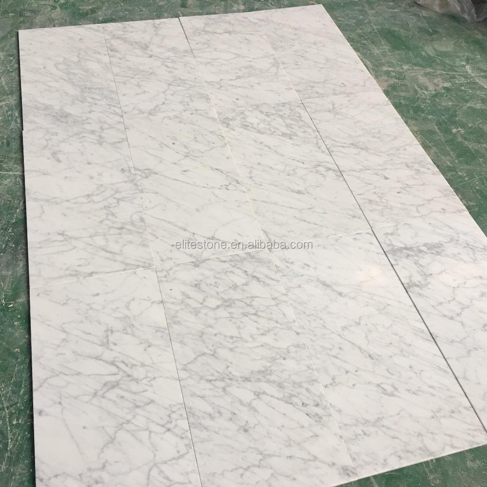 Italian Bianco Carrara White Marble Floor Tile 300x300 12x12