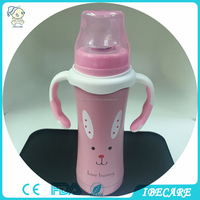 Stainless steel bottle baby feeding bottle with handles hot selling baby feeder with nipple