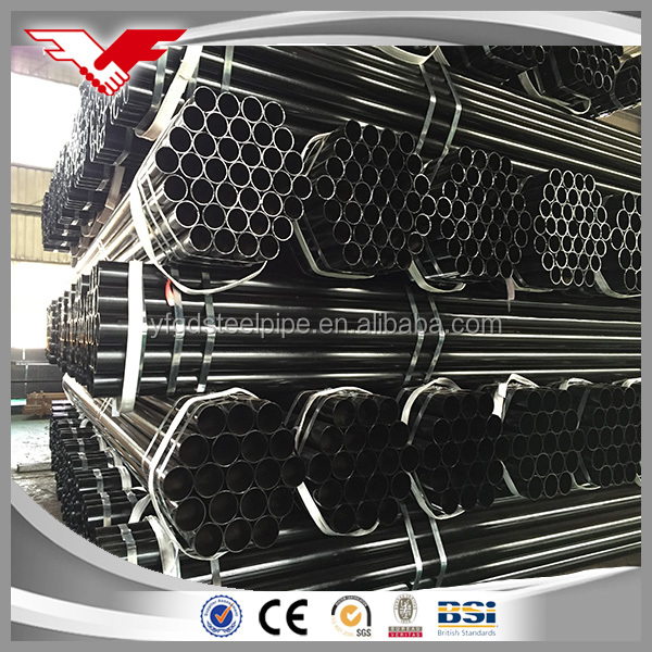 Prime Iron steel tubes ASTM A53 black painting ERW steel pipe