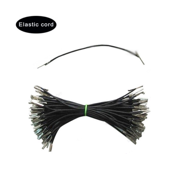 YJX factory cheap supply best 3mm black elastic cord with metal barbs