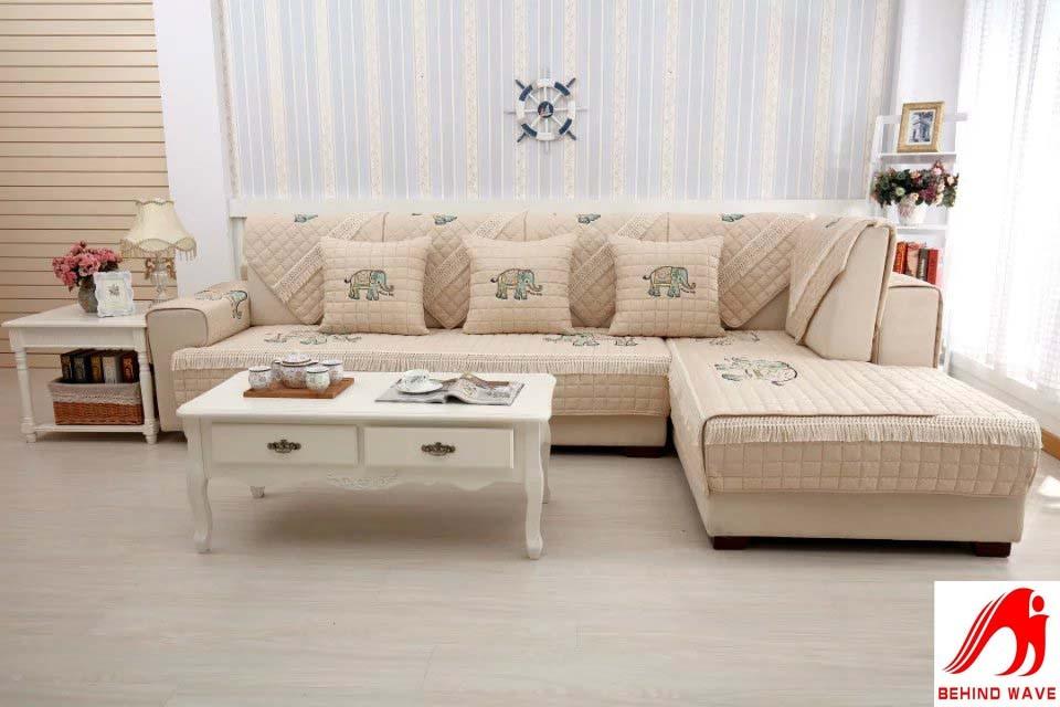 Sofa Cushion Cover Fabric Leather Armrest