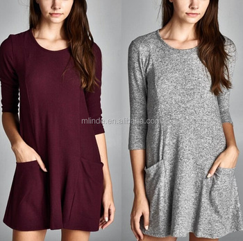 Loose Fit Three Quarter Length Sleeves
