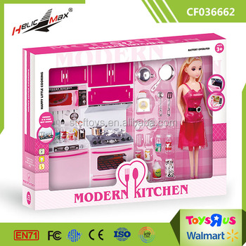 Hy Little Cooking Toy Kitchen Sets With Light Sound