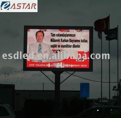 outdoor full color ph16mm led display screen