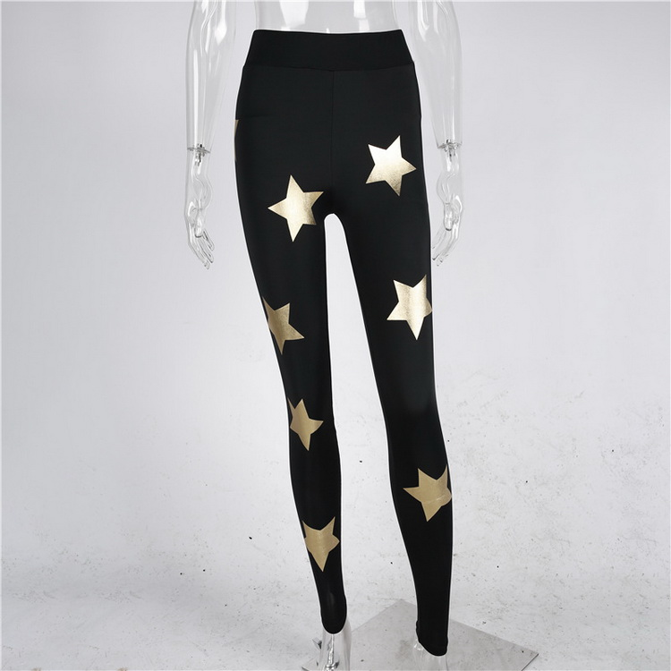 2017 Summer New Style Star Print Slimming Yoga Leggings For Ladies