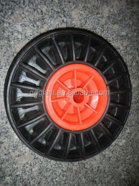 high quality 10x3 solid rubber wheel