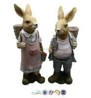 Foe home and garden decoration Easter rabbit figurines collectables