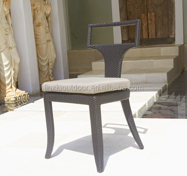 Logo offered rattan wicker outdoor plastic chair JX-448