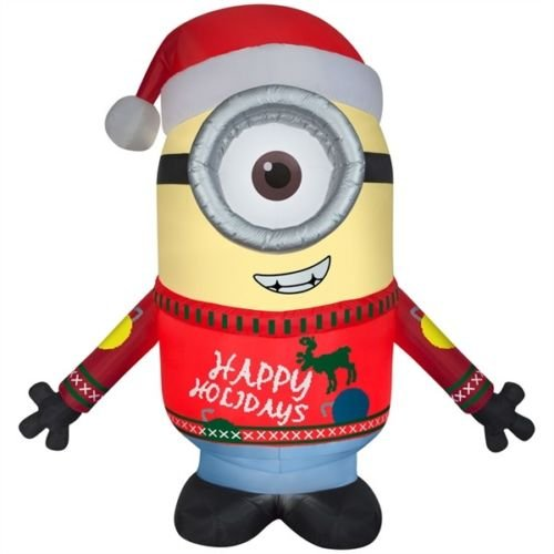 get quotations gemmy airblown 95 minion carl merry christmas inflatable indooroutdoor holiday yard decor