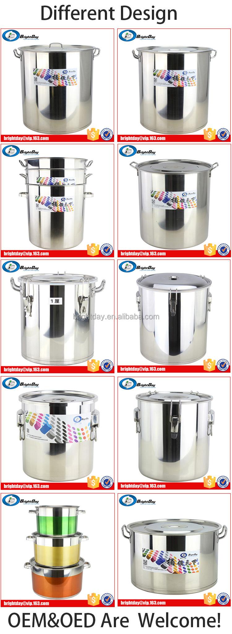 Hotel Stainless Steel Stock Pot/ Soup Barrel Aluminum Cooking Pot ...
