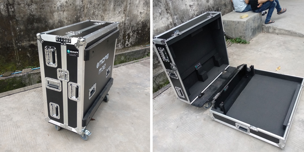 KKMARK new design black flip flight case for Midas M32 Digital Mixer