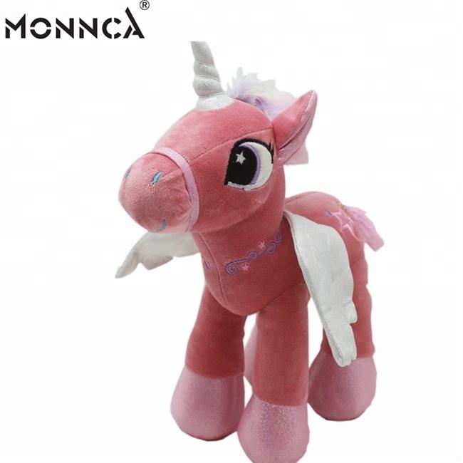Hot Sale Stuffed Walking Unicorn With Wings For Gift Cartoon Animal