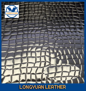 LONGYUAN 0.5mm-1.4mm Supply last mirror PU leather cotton backing