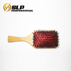 Wooden Handle bamboo needle Massage Hair Brush Comb